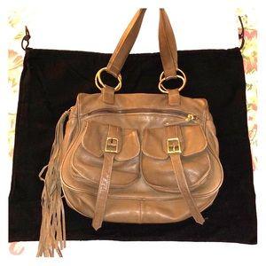 BULGA brown leather saddle bag